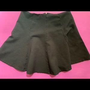 Painted threads A line flounce mini skirt